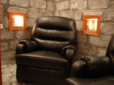 Salt room with recliners