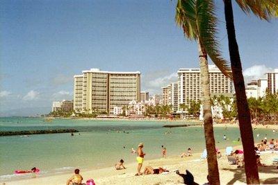 Waikiki Beach, Jan 1, 2002