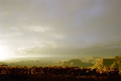 Sunset at Warrumbungles National Park, Australia, July 2000