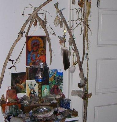 Photo of Milwaukee Shamanic Shift Sanctuary Divine Feminine and Children Shrine by J.M.McCombie
