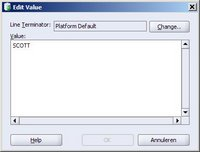 SQL Developer 1.1 Edit line terminator value
