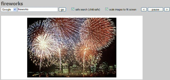 View Image Search Results in a Slideshow