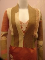 Fashion | Designers | Margaret O'Leary | Colorblock Shrug | Gold Hawk | Silk Cami
