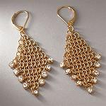 Kenneth Jay Lane Fashion jewelry (Gold-Tone Mesh Dangle Earrings) for sassy and chic Women, Teen and Girls