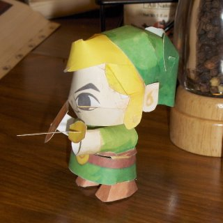 Papercraft Link (side view)