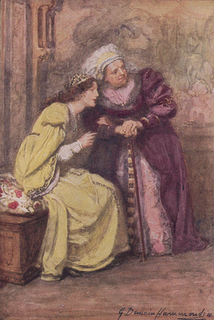 An illustration from the Lambs' Tales by Gertrude Demain Hammond