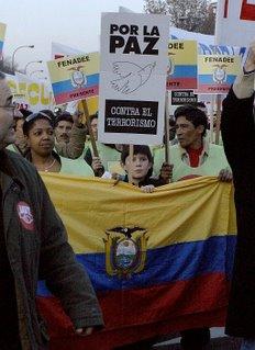 Los ecuatorianos se echaron a las calles de Madrid, aludidos por la muerte de dos compatriotas a manos de ETA