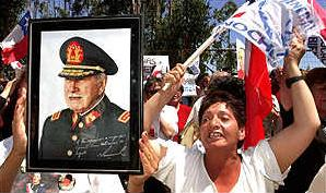 Fascists welcome Pinochet home to Santiago