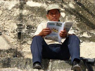 Guard at Tikal