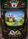 Naj's Canal Folk Art - Hand-painted Milk Churn w/ Traditional Roses & Castles