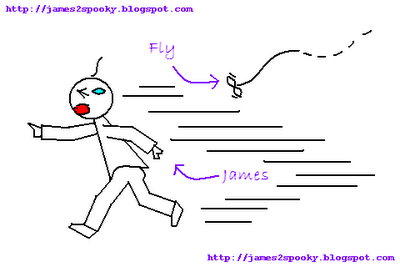 Chased by Fly - Drawn by James with MS Paint