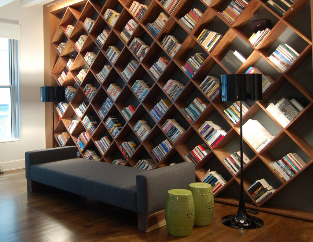 interesting bookcase - Wall Sized Bookshelves