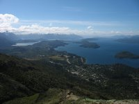 Bariloche: Aussicht vom Cerro Otto auf den Circuito Chico