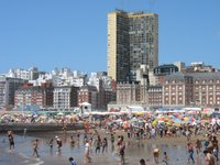 Am Strand von Mar del Plata