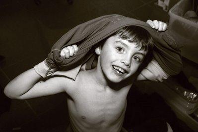 portrait d'un enfant, garçon, photo dominique houcmant, goldo graphisme