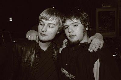 portrait de deux amis, soundstation Liège, photo dominique houcmant, goldo graphisme