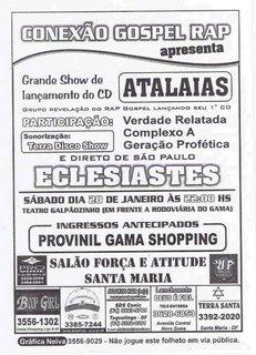 Lançamento - cd Atalaias