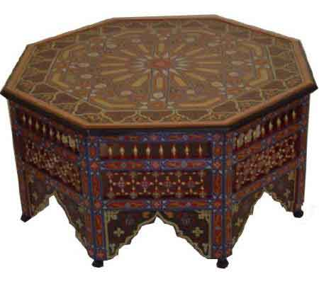 Les tables en moucharabieh d coration salon oriental - Table de salon marocain ...