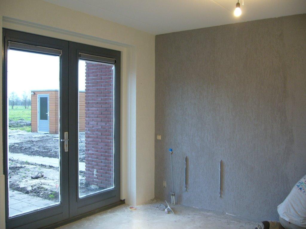 Muurverf woonkamer idee - Kleur verf moderne woonkamer ...