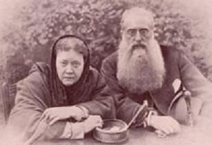 Mdme. Blavatsky & El Gral. Olcott