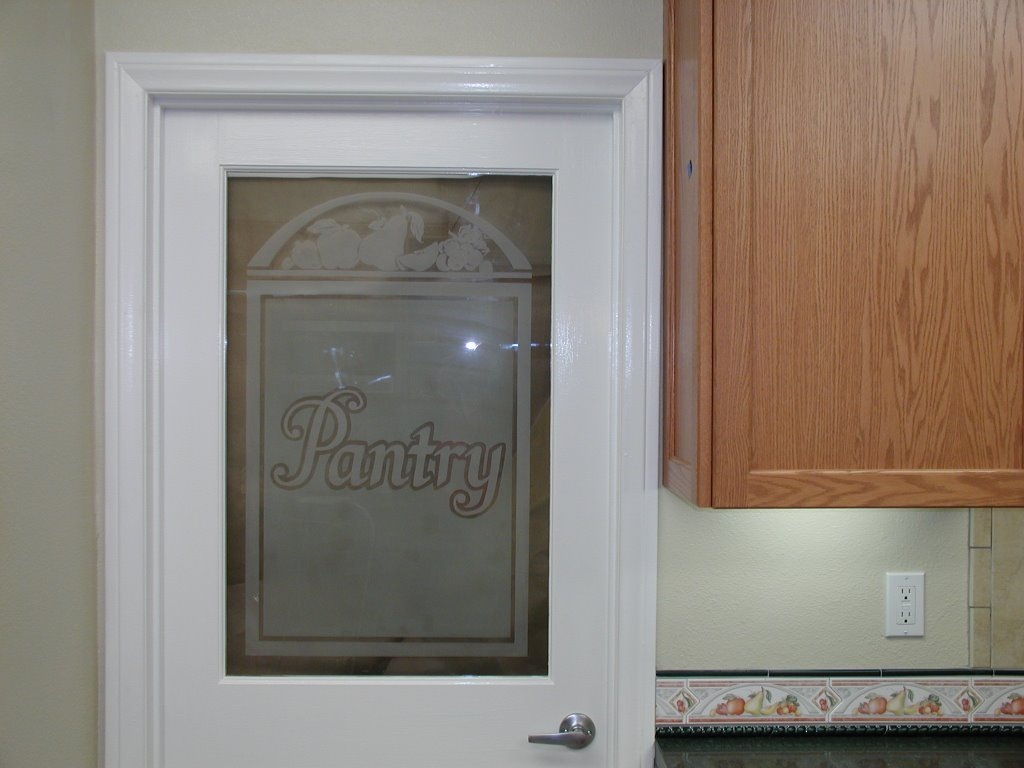 768 #6F4E38  Door With Only Half Glass And Took The Glass In To Be Custom Etched image Doors Half Glass 42031024