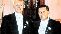 'boda gay' entre el britanico P. Goad y el peruano M. Bretoneche'