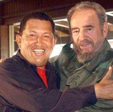hugo Chavez y Fidel Castro