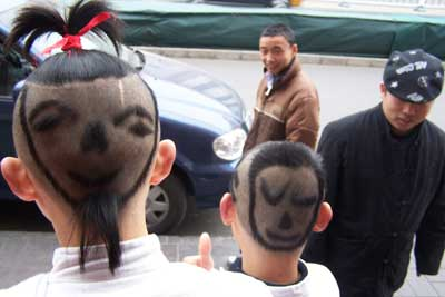 'Smiling face' hairstyle draw customers