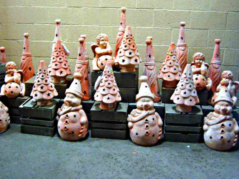 Ceramic Christmas ornaments on sale at my local Vons supermarket - 3 Minute Climaxes - Jungle Bells & Jingle Bulls Mixed Meters