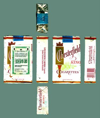Edythe Ocker's last pack of cigarettes - she kept smoking even after she began chemotherapy for smoking-related cancer