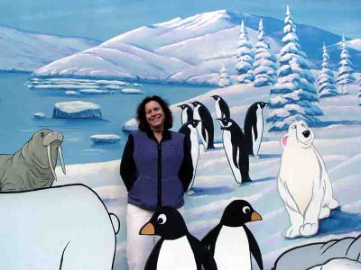 Leslie at the LA Zoo - penguins and polar bears