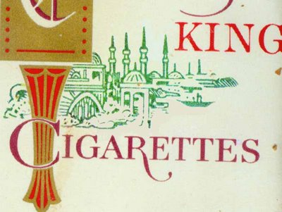 Chesterfield Cigarette logo - detail of package - minarets and domes