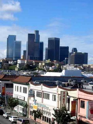 California Blue Sky plus Los Angeles' Chinatown and Skyline