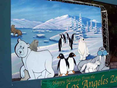 Happy Holidays from the LA Zoo - penguins and polar bears