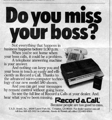 Record A Call Advertisement - 1982 Newsweek