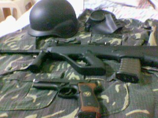 TM Steyr AUG, TM Samurai Edge, Helmet at Mask