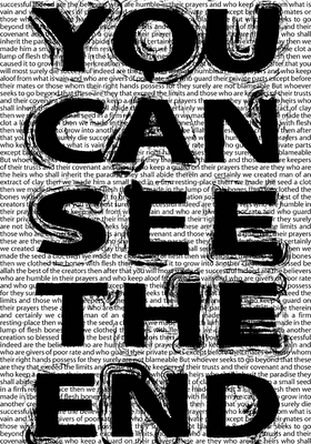 you can see the end, a visual poem by Allan Revich