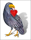 Valentine Raven Greeting Card
