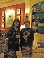 Myrna Yoo and Bette James Blueline Publishers Party