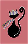 French Kitty Stationery Sheet
