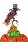 Goth Raven Stationery Sheet