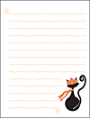 French Kitty Notecard