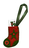 Toy Train Stocking Felt Gift Tag