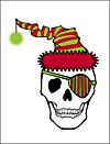 Pirate Santa Skull Greeting Card