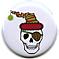 Pirate Santa Skull Button or Magnet