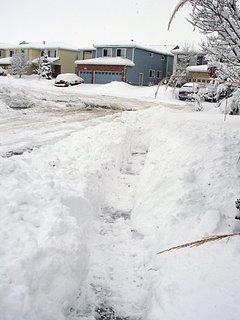 Shoveling Sidewalk