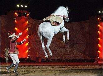 Levitating horse
