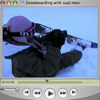 Snowboarding with Suzi