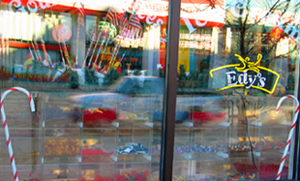 candy corner window