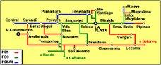 Líneas originales del Ferrocarril